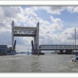 Dubbele brug bij Dordrecht