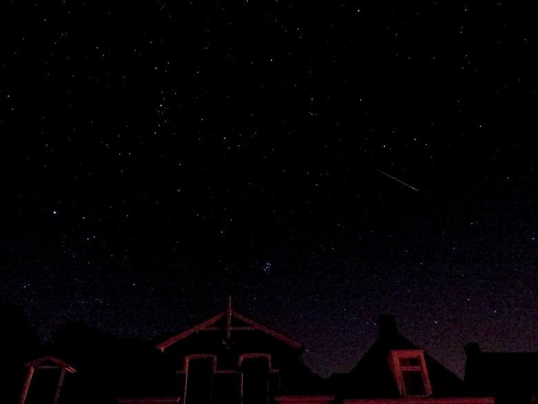 Pfff eindelijk! Een 'vallende ster' ... - Gisteravond getracht om de meteorieten vast te leggen. Naar buiten dus met statief en camera, geen straf op