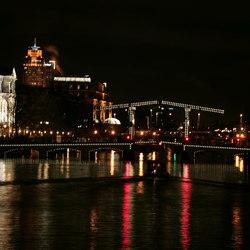 Amstel at night