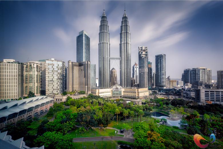 Kuala Lumpur - Maleisië - De Petronas Towers in de ochtend