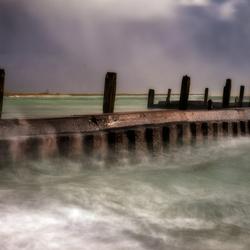 Stormachtig weer bij Flaauwers haven....