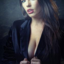 in black jacket
