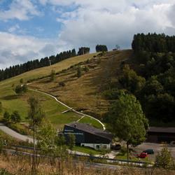 Sankt - Andreasberg - uitzicht over de rodelbaan
