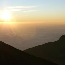 Sunrise at Kilimanjaro summit