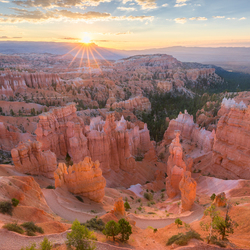 Zonsopkomst in Bryce Canyon National Park