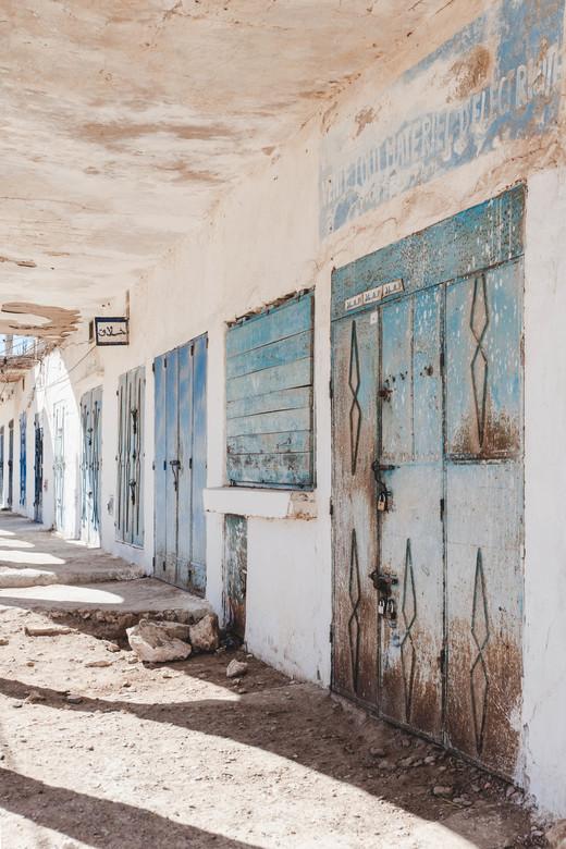 Kustplaatsje in Marokko - Een verlaten kustdorpje op de route tussen Essaouira en Agadir, Marokko.