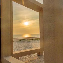Zonsondergang Maasvlakte door de Zandwacht