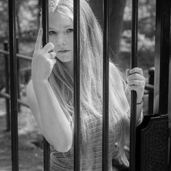Behind bars..