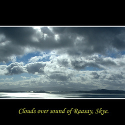 clouds over Sound of Rasaay.