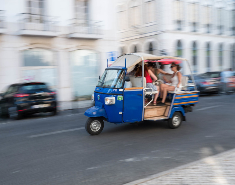 Tuc tuc in Lissabon -