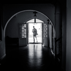 Man in the doorway