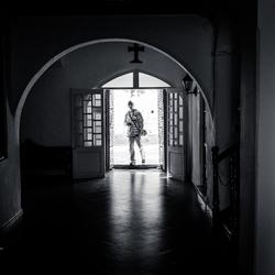 Man in the doorway
