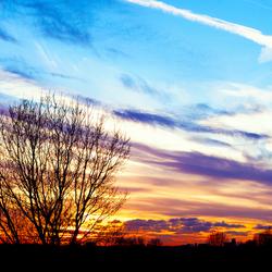 Zonsondergang 24-11-2014 Buytenpark, Zoetermeer