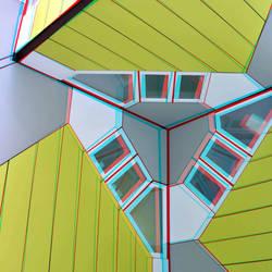 Cubic-houses Overblaak Rotterdam 3D