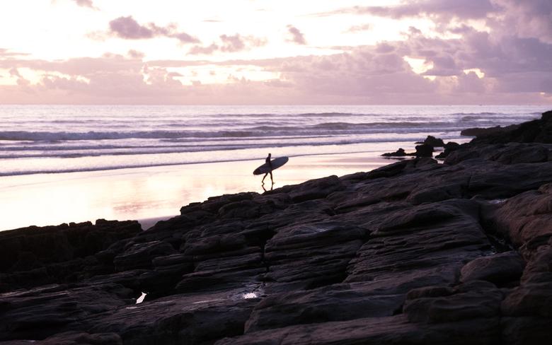 Taghazout - Surf - Sfeerfoto van het strand van Taghazout, Marokko.