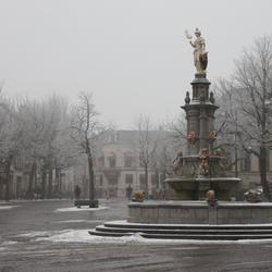 trieste winterdag in Deventer