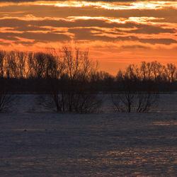 zonsopgang Waal
