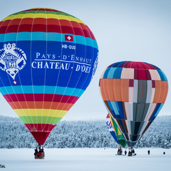 Luchtballonnen in Fins Lapland