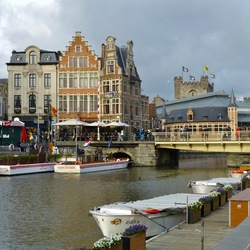 Mooie gracht in Gent