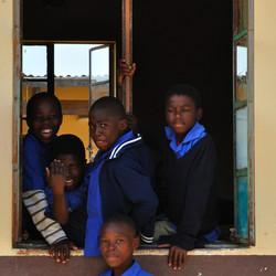 Op een schooltje in Swaziland