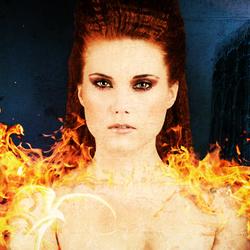 Amando on fire