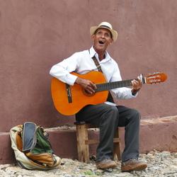 Blikvanger in Trinidad, Cuba