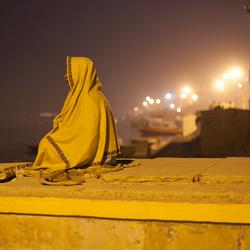 Sadhu bij avond