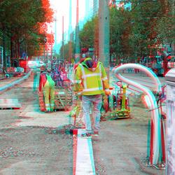 Werken aan Coolsingel Rotterdam 3D