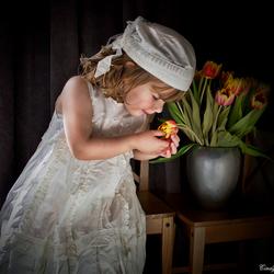 Meisje met de tulpen