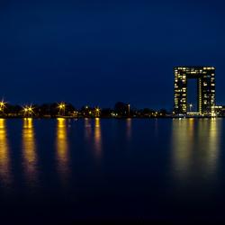 Tasmantower with city lights