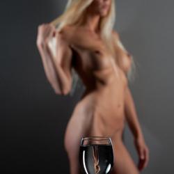 Art nude in glass