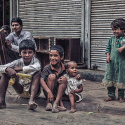 Straatkinderen India
