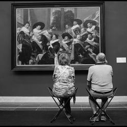 Met Henk..dag Mark..nee hoor kan wel ik zit met mijn vrouw in een museum..
