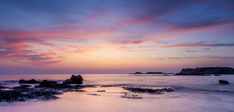 Amazing Evening - Foto gemaakt tijdens onze in  vakantie in Falassarna op Kreta op een heel mooie avond