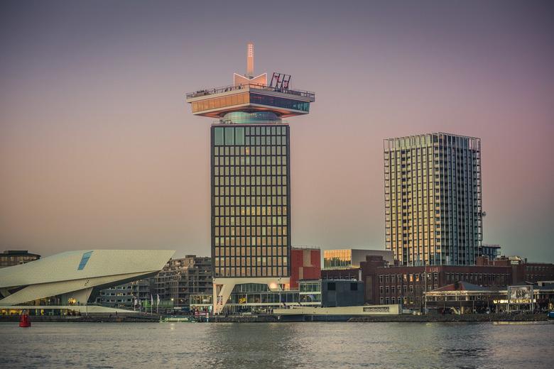 Adam toren aan het IJ - Gewerkt met de Zoom Landschap Preset 'Stadsblauw'