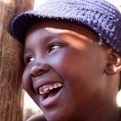 Meisje uit de sloppenwijk Alexandra, Johannesburg