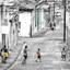 Straat voetbal Cuba