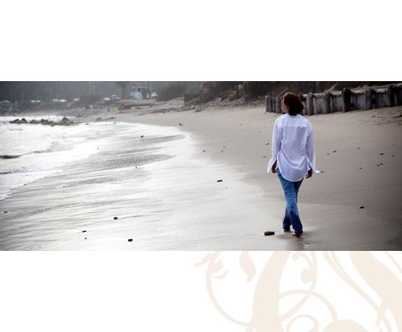 walk on the beach -