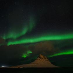Iceland, Kirkjufell - Aurora Borealis