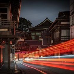 Light Trails. Narita, Japan