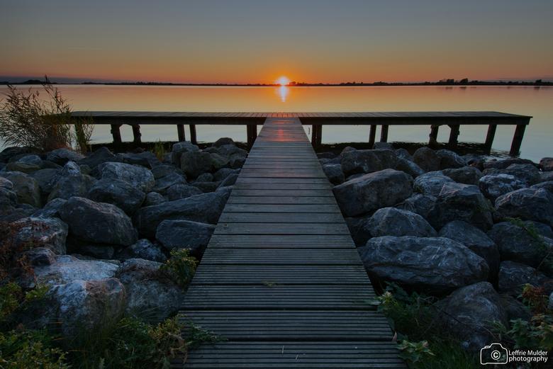 Sunset Schildmeer Groningen - Zonsondergang bij het Schildmeer in Groningen