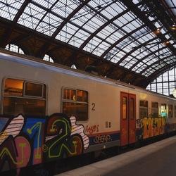 Kleurrijke trein, Spoorwegkathedraal Antwerpen