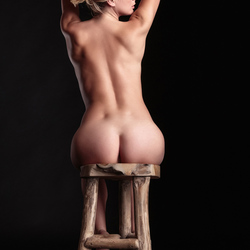 Victoriah on a stool