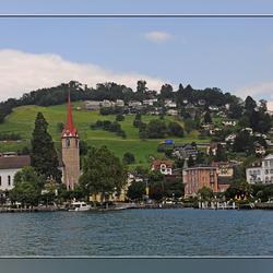 Onderweg met de boot naar Luzern.