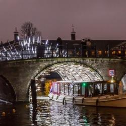 Lightshow Amsterdam uit de hand vastgelegd