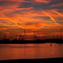 Zonsondergang in de Haven van San Antoni op Ibiza