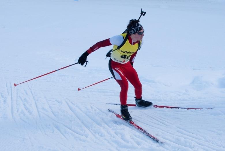 Biathlon - Een deelnemer aan de biathlon, seefeld, oostenrijk.