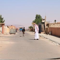 straatfoto Wadi Rum Jordanië