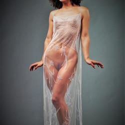 Mischkah  in translucent  clothing