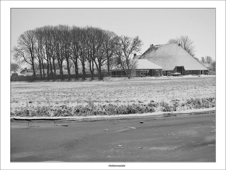 Hobbemastate - Het huidige Hobbemastate is een monumentale kop-hals-romp boerderij In Dronryp (Friesland) die gebouwd is op de plaats waar vroeger een